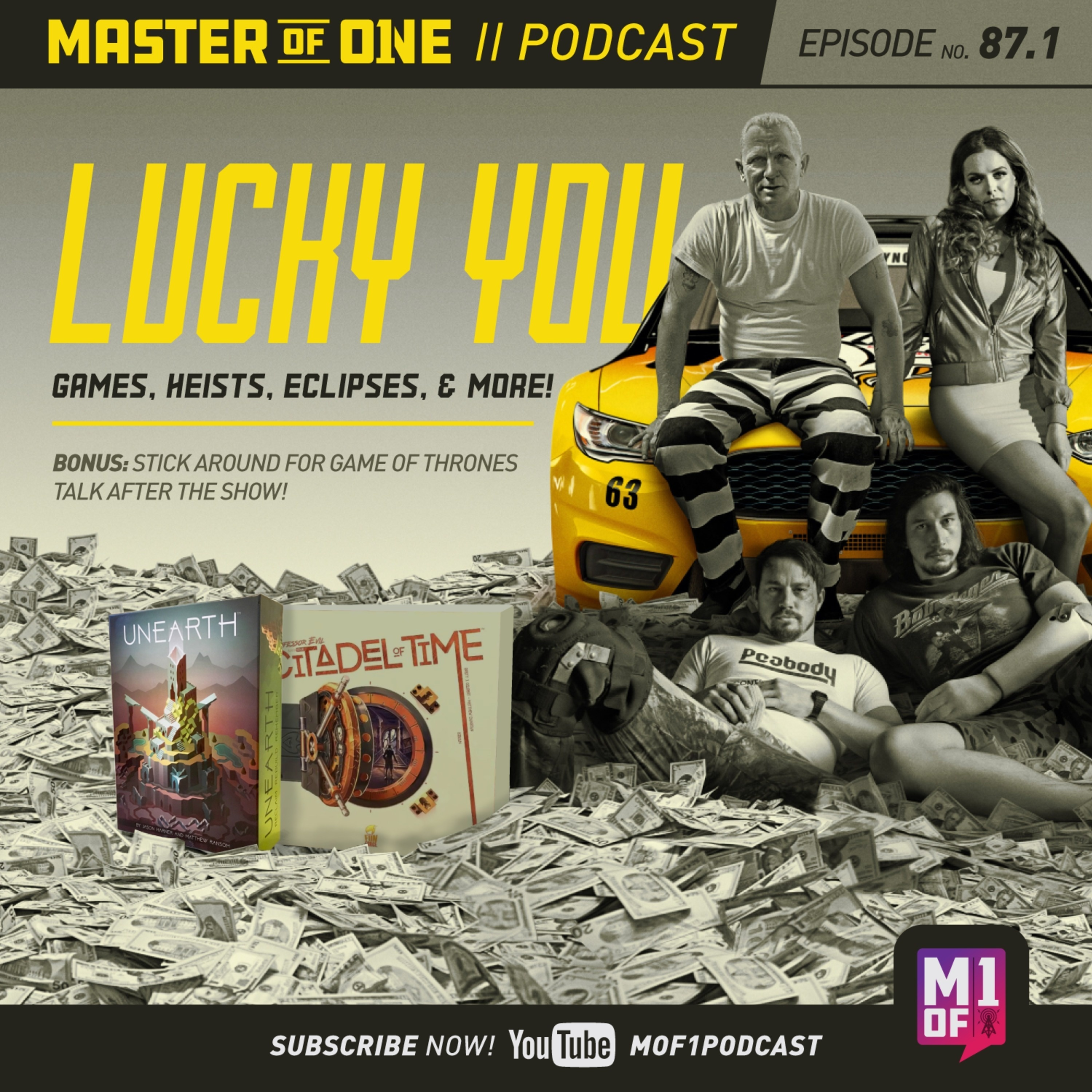 Episode 87.1: Lucky You: Games, Heists, Eclipses, & More!