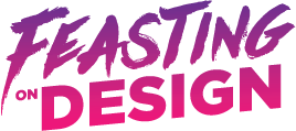 Feasting on design logo color
