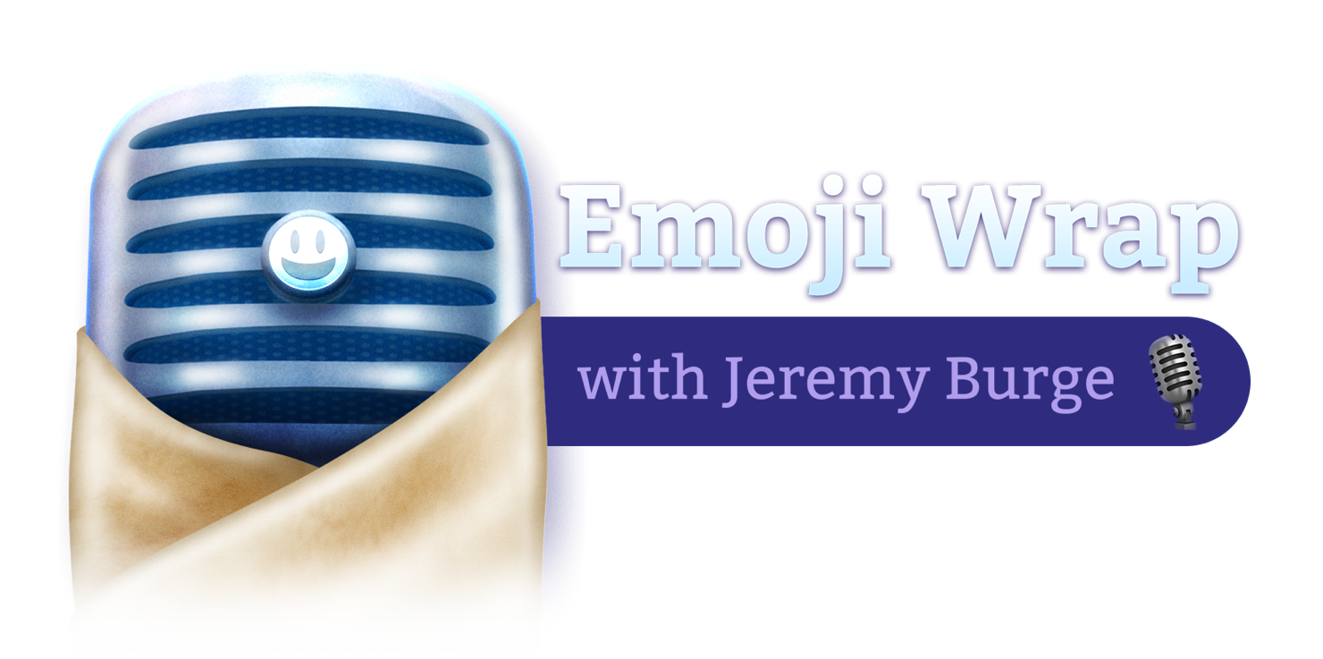 Podcast banner website emojiwrap