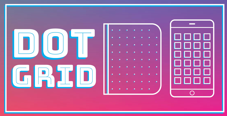 Dot grid banner