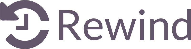 Rewind logo transparent webpage