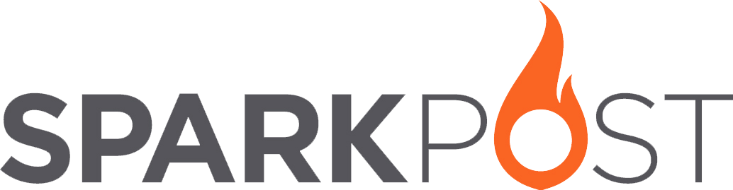 Sparkpost logo gray orange