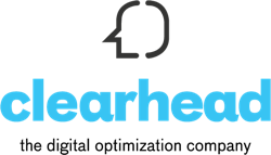 Clearhead logotag blue  250pxwide