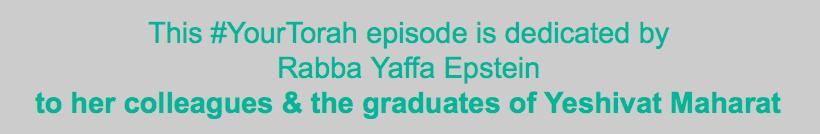 Yaffa epstein dedication