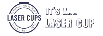Laser cups logo phil and chester